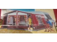 Dorema Montana Awning with Sleeping Annex Burgundy and Grey in colour (Size 1035 to 1050)