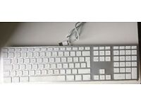 Genuine Apple Mac A1243 Ultra Thin Aluminum USB Wired Keyboard with Numeric Keypad