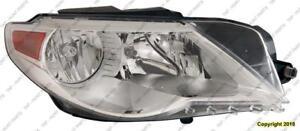 Head Lamp Passenger Side Halogen High Quality Volkswagen Passat CC 2009-2012