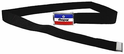 "Clamp Web Men Canvas Military Jeep Dodge Mopar HEMI Logo Blue Red 1.5"" Black"