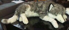 Large stuffed husky