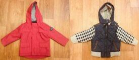 2x Boys jackets size 9-12 month