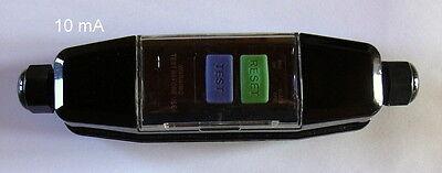 RCD-05 In-Line Schutzschalter, Fehlerstrom, FI-Schalter, 10mA, 3600 Watt, 230 V
