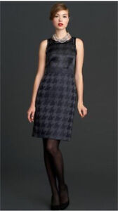 Banana Republic Houndstooth Pattern Dress NWT