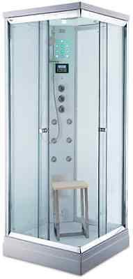 Steam pod shower.