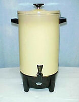Retro West Bend Harvest Gold 12-36 cup Party Percolator~Model 39