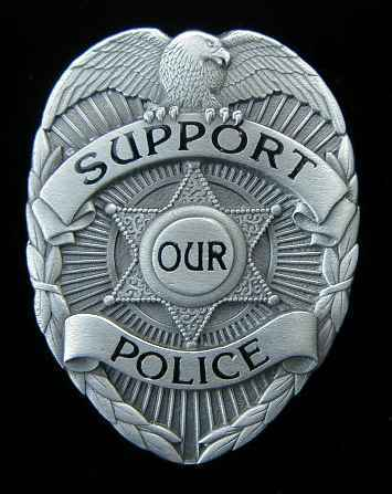 SUPPORT OUR POLICE BADGE BELT BUCKLE BUCKLES NICE!