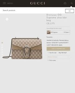 GUCCI DIONYSUS GG SUPREME FOR SALE  100% AUTHENTIC *BEST OFFER*