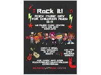 Rock It! Music Making day for children 8+ 13th and 14th Feb - Half Term