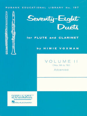 78 DUETS FOR FLUTE AND CLARINET Volume 2 MUSIC BOOK-ADVANCED-BRAND NEW ON SALE!! Flute Clarinet Duets