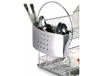 Chrome Look Removable Cultery Holder for Dish Rack Drainer.