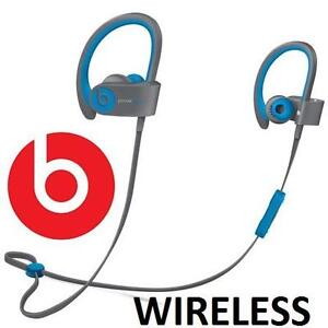 NEW BEATS POWERBEATS2 EARPHONES - 116950692 - ACTIVE WIRELESS BLUETOOTH EARBUDS IN EAR HEADPHONES FLASH BLUE