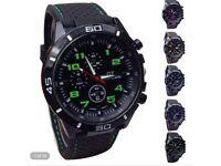 Silicone Fashion Quartz Watch Men Military Watches Sport Wristwatch