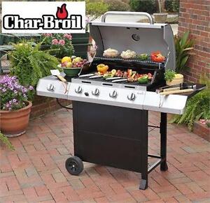 NEW CHAR-BROIL 4-BURNER GAS GRILL BBQ Heat Output: 48000 BTU - Barbecue - PROPANE - LP - LIQUID PROPANE