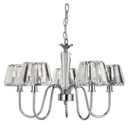 Chandelier - Chrome with 5 lights RRP £75 New