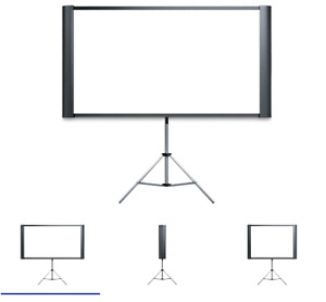 Duet 80-Inch Dual Aspect ratio portable projection screen