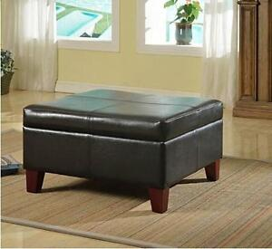 NEW KINFINE FAUX LEATHER TABLE Home  Kitchen  Furniture  Living Room  Coffee Tables 105246746