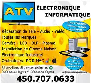 Réparation TV ACL / LCD Plasma LED / DEL TERREBONNE MASCOUCHE
