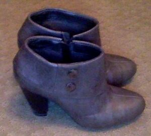 Grey Booties Size 8