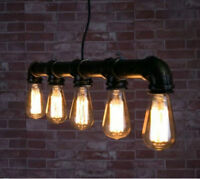 Luminaire suspendu en tuyau de fonte style retro industriel rust