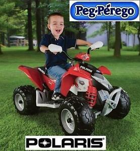 NEW POLARIS OUTLAW 12V ATV QUAD PEG-PEREGO RIDE-ON QUAD TOY - RED - BATTERY OPERATED RIDE ON 104774008