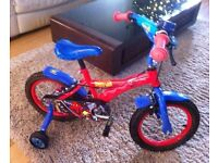 """Boys Spiderman bicycle 10"""" Excellent condition only used twice"""