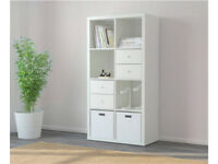 Ikea Kallax 2x4 shelves/bookcase with drawers and cupboard