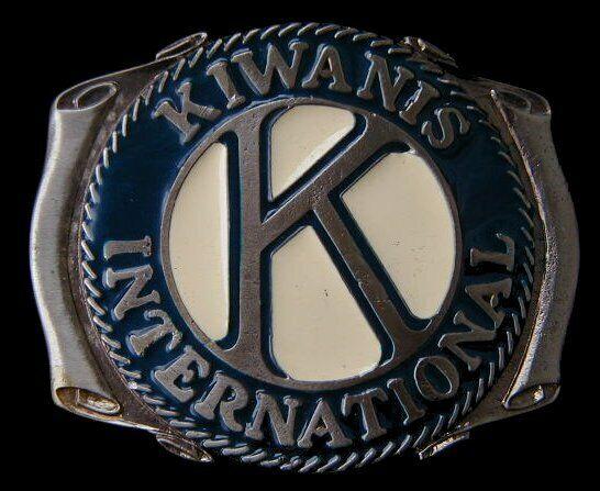 KIWANIS INTERNATIONAL BELT BUCKLE VINTAGE 1980