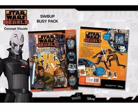 Star Wars Activity Busy Pack Kids & Childrens Stickers, Wipe Clean Sheets