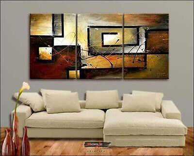 3PC SALE MODERN ABSTRACT HUGE WALL ART OIL PAINTING ON CANVAS