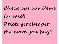 Clearance Items - Vintage, Clothes, Shoes, Toys, Collectables, Furniture, Books, Garden Items etc.