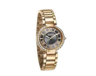 NWT Ladies Citizen EM0103-57X Eco-Drive Rose Gold-Tone Diamond Accent Watch
