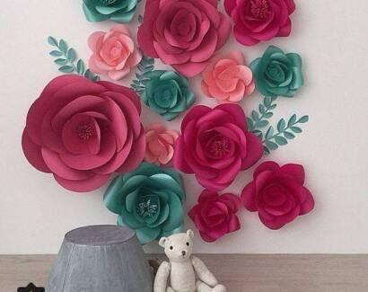 Paper flower backdrop party hire gumtree australia wyndham area hiringsale paper flowersbackdrop mightylinksfo
