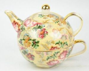 Skye McGhie Wild Rose Teapot and Cup for One