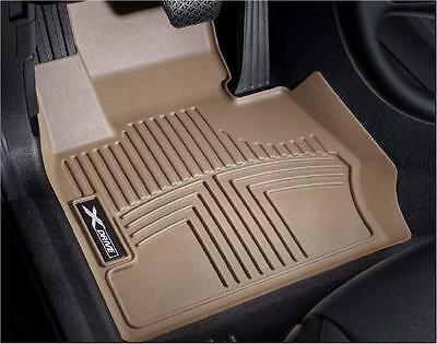 BMW OEM Beige All Weather Floor Liners 2007 2013 E70 X5 E71 X6 FRONT 82112211586