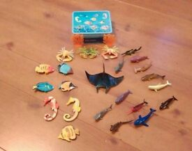 Early learning tin of lots with lots sea creatures with extra sharks