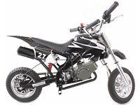 NEW 50CC KIDS MINI MOTO DIRT DEVIL SCRAMBLER MOTORBIKE~OFF-ROAD BIKE~2016 MODEL~BLACK!