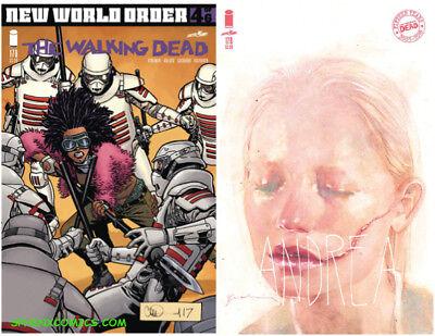 WALKING DEAD #178 A & B VARIANT COVER SET SIENKIEWICZ IMAGE COMICS KIRKMAN HOT!