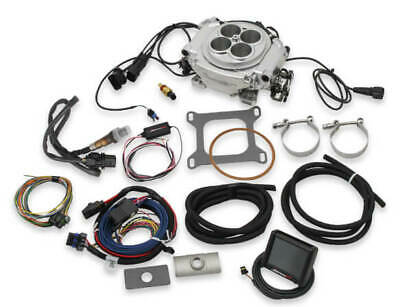 Holley 550 510 Sniper EFI Fuel Injection Conversion Kit  fits all V8s Polished