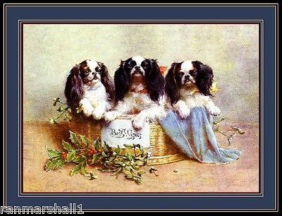 Cavalier King Charles Spaniel Prints (English Print Cavalier King Charles Spaniel Dog Dogs Puppy Puppies Art Poster )