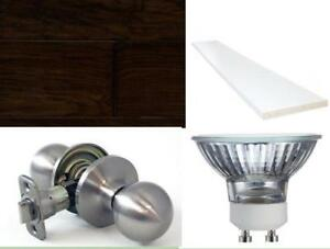 Laminate floor, door lock, bulbs and more...