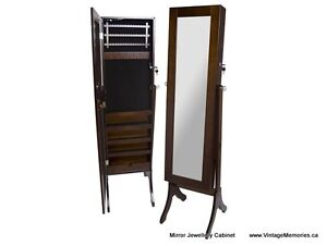 Brand New Jewelry Cabinet with Large Mirror On Sale