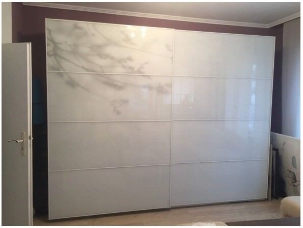 Bon Wardrobe Ikea Pax Sliding Doors 250x236x58 £330