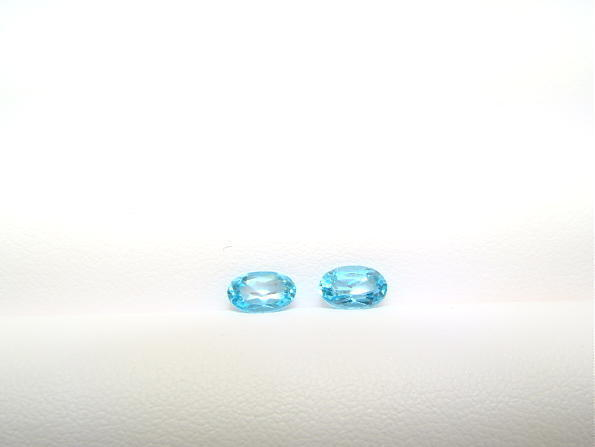 Oval Apatite Matched Pair 6x4mm Nice Color!! Nice Size! Close Out!