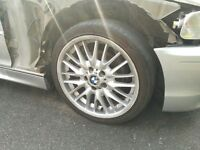 """BMW 3 SERIES E46 MV1 M SPORT 18"""" STAGGERED ALLOY WHEELS AND TYRES - SET OF 4"""