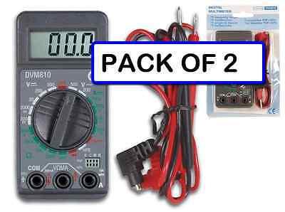 Pack Of 2 Velleman Dvm810 Mini 3 12 Digit Digital Multimeter-19 Ranges