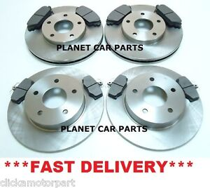 NISSAN-ALMERA-TINO-1-8-2-0-2-2-2000-2006-FRONT-REAR-BRAKE-DISCS-PADS-SET-NEW