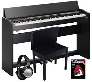 Roland F-120 Satin Black 88-Key SuperNATURAL Digital Piano COMPLETE HOME BUNDLE