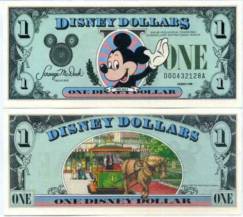 1988 $1  Mickey Mouse Disney - D Series New