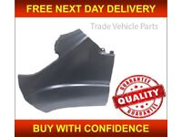 CITROEN RELAY 2014- FRONT WING NO LAMP AND MOULDING HOLE PASSENGER SIDE PRIMED NEW FREE DELIVERY